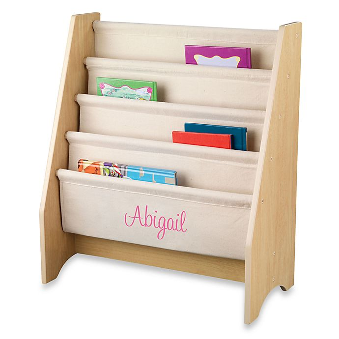 finest selection ad543 92959 KidKraft® Personalized Girl's Sling Bookcase in Natural with ...