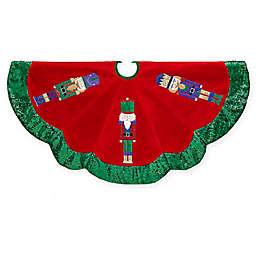 Kurt Adler 48-Inch Velvet Nutcracker Christmas Tree Skirt