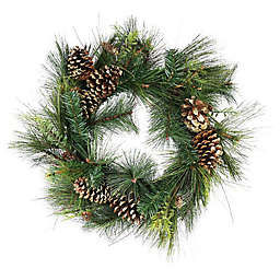30-Inch Mixed Pine Artificial Christmas Wreath