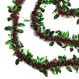 Northlight 50-Foot Shiny Tinsel Garland with Holly
