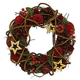 13-Inch Rustic Berry Artificial Christmas Wreath