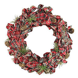Northlight 14.25-Inch Holiday Moments Bows and Pinecones Wreath