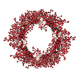 18-Inch Frosted Red Berry Wreath