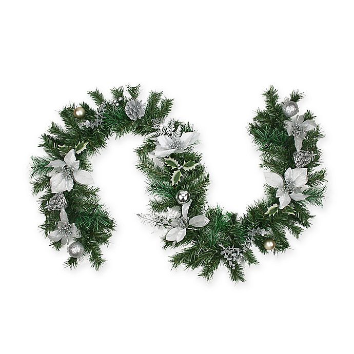 Alternate image 1 for Northlight 6-Foot Traditional Pine Garland in Silver