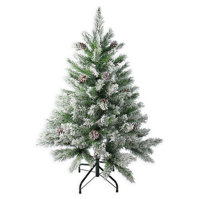 8 Ft Flocked Christmas Tree: Northlight 4-Foot Flocked Angel Pine Christmas Tree