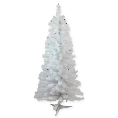 White Christmas Tree With Blue Lights.4 Foot White Pine Artificial Christmas Tree With Blue Lights
