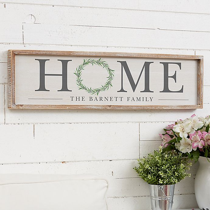 Alternate image 1 for Home Wreath 30-Inch x 8-Inch Barnwood Frame Wall Art