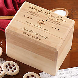 Recipe for Love Wood Recipe Box