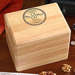 Circle Of Love Wood Recipe Box