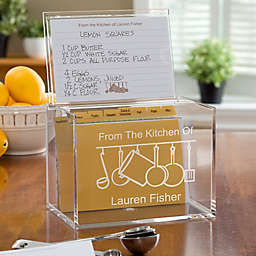 From the Kitchen Of Acrylic Recipe Box