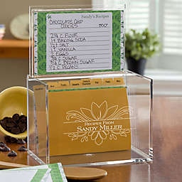 Damask Acrylic Recipe Box