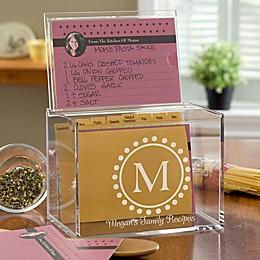 Monogram Acrylic Recipe Box