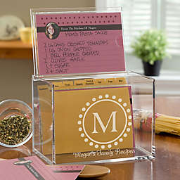 Monogram Acrylic Recipe Box