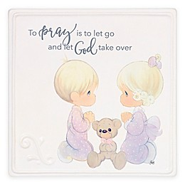 Precious Moments® Girl and Boy Praying Plaque