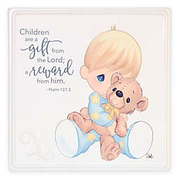 Precious Moments® Boy With Teddy Bear Plaque