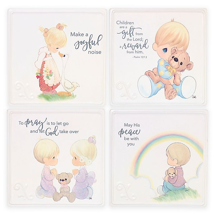 Alternate image 1 for Precious Moments® Baby Artwork Plaques (Set of 4)