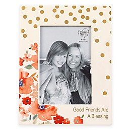 Precious Moments® Floral 4-Inch x 6-Inch Picture Frame