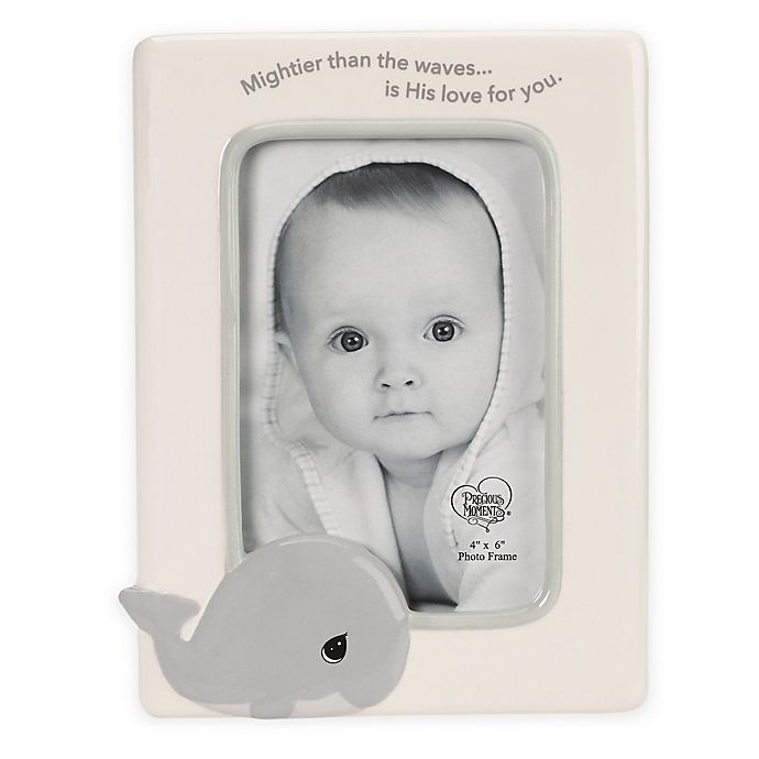 Precious Moments Whale 4 Inch X 6 Inch Ceramic Picture Frame