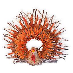 Boston International Twig & Husk Turkey Artificial Wreath