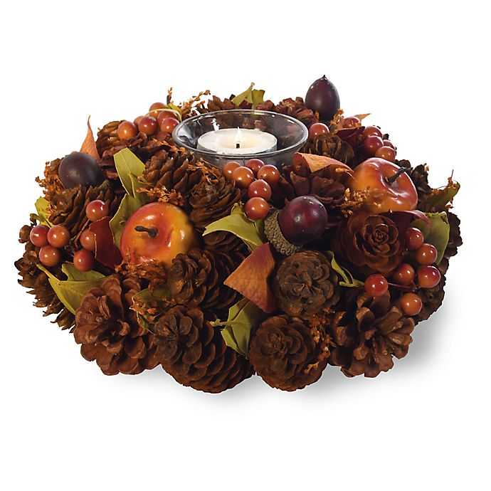 Alternate image 1 for Boston International Fall Berries Artificial Tealight Candle Holder