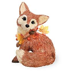 Boston International Autumn Splendor Fox Figurine in Orange