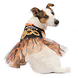 """Mommy's Little Boo"" Tutu Dress Costume in Orange/Black"