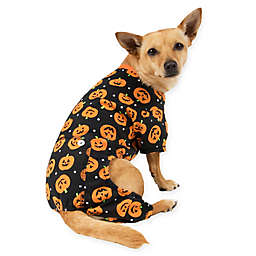 Pumpkin Print Pet Pajamas in Orange