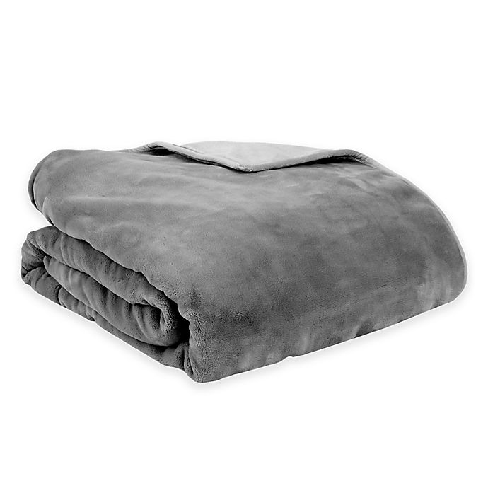 Alternate image 1 for Therapedic® Reversible 12 lb. Small Weighted Blanket in Grey
