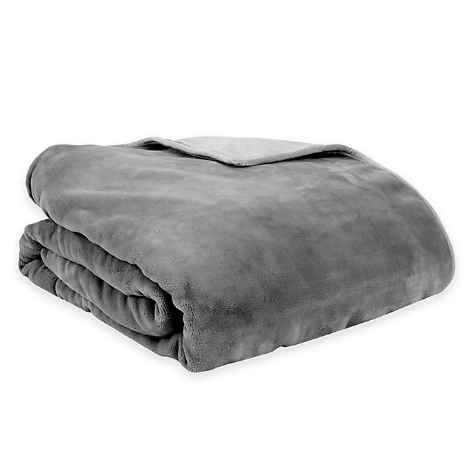 Alternate image 1 for Therapedic® Reversible 16 lb. Medium Weighted Blanket in Grey