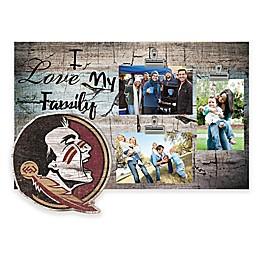 Florida State University I Love My Family 3-Photo Clip Frame