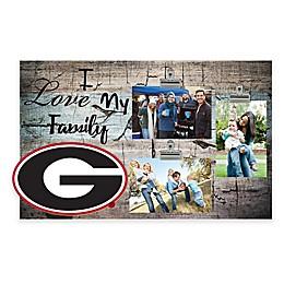University of Georgia I Love My Family 3-Photo Clip Frame
