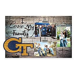 Georgia Tech I Love My Family 3-Photo Clip Frame