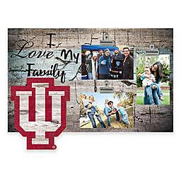 Indiana University I Love My Family 3-Photo Clip Frame