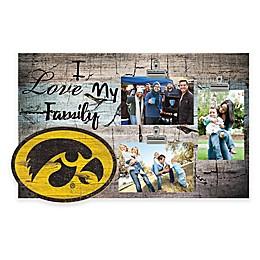 University of Iowa I Love My Family 3-Photo Clip Frame