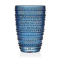 Lumina Hobnail High Ball Glasses in Blue (Set of 4)