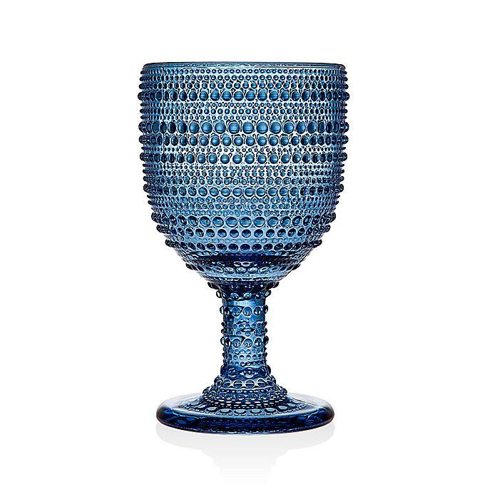 Alternate image 1 for Lumina Hobnail Goblets in Blue (Set of 4)