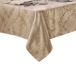 Barcelona Jacquard Damask 60-Inch x 120-Inch Oblong Tablecloth in Beige