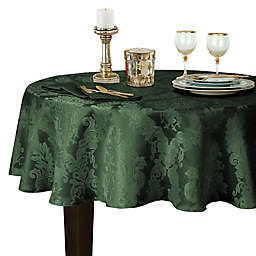 Barcelona Damask 70-Inch Round Tablecloth in Hunter Green