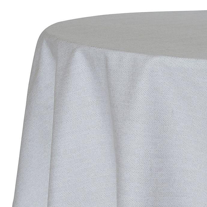 Alternate image 1 for ED Ellen DeGeneres Herringbone 60-Inch Round Tablecloth in Gunmetal