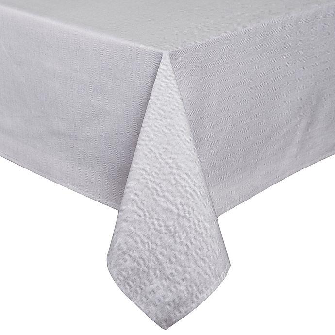 Alternate image 1 for ED Ellen DeGeneres Herringbone Tablecloth in Gunmetal