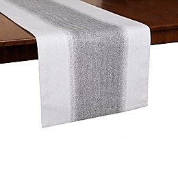 ED Ellen DeGeneres Dip Dye Herringbone Table Runner in Gunmetal