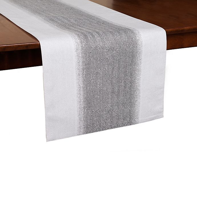 Ed Ellen Degeneres Dip Dye Herringbone Table Runner In