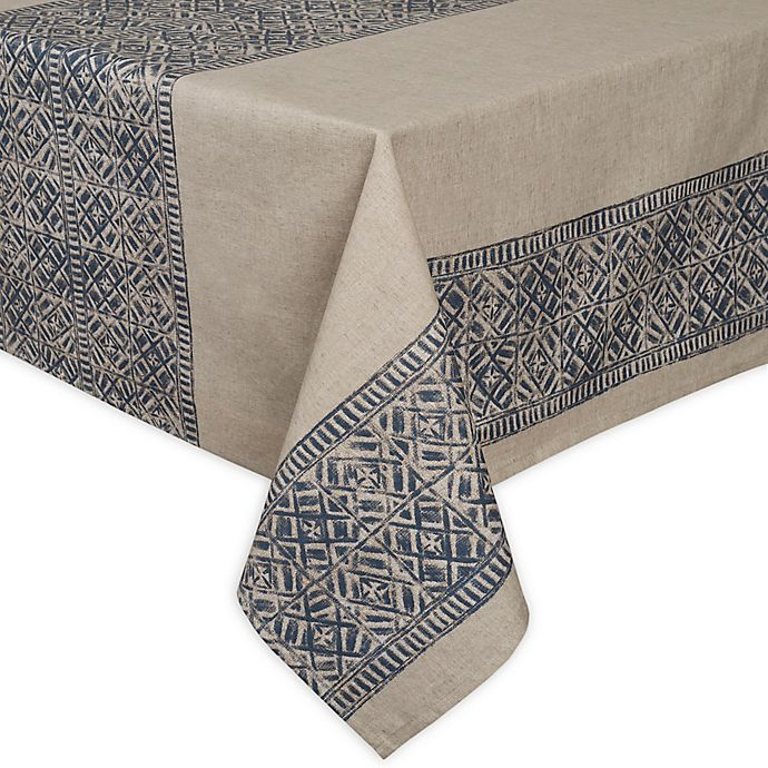 Alternate image 1 for ED Ellen DeGeneres Nomad 60-Inch Square Tablecloth in Blue