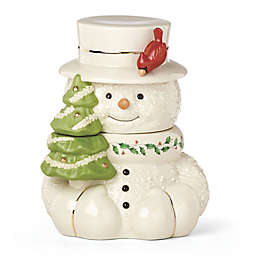 Lenox® Happy Holly Days™ Snowman with Cardinal Cookie Jar