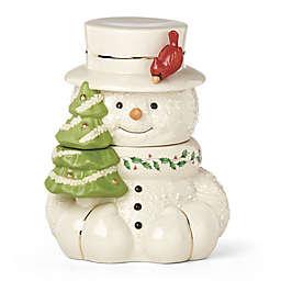 Lenox® Happy Holly Days™ Snowman with Cardinal Cookie Jar