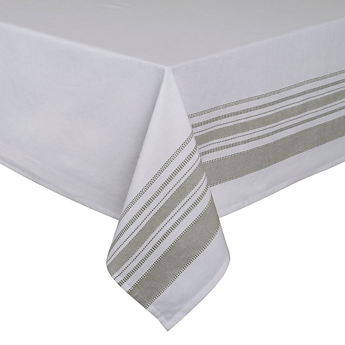 Alternate image 1 for ED Ellen DeGeneres Myan Tablecloth in White