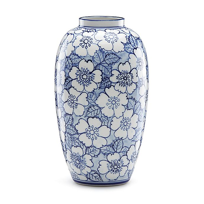 Alternate image 1 for Lenox® Painted Indigo™ Floral 11-Inch Tall Vase