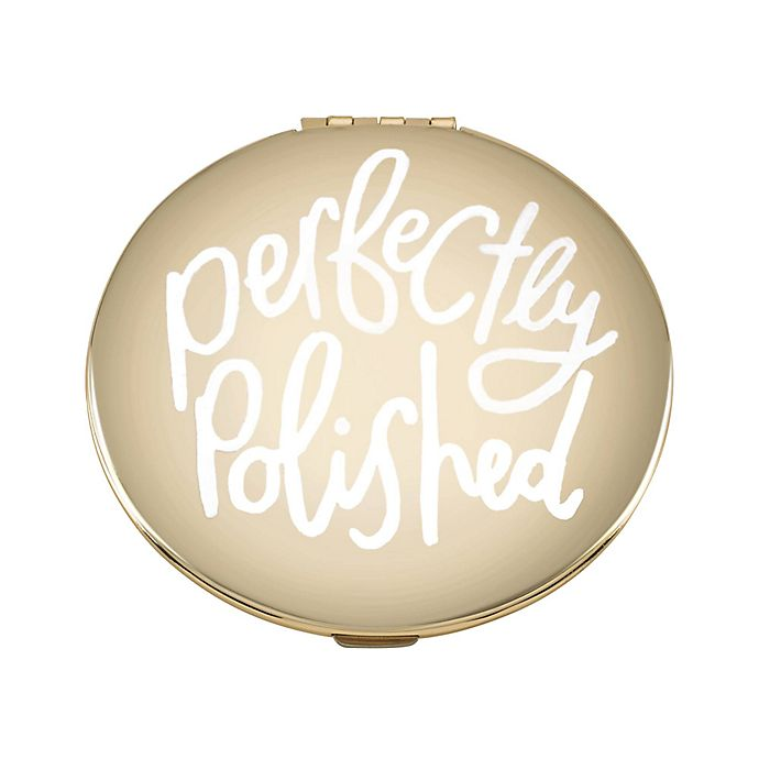 Alternate image 1 for kate spade new york All that Glistens™ Compact Mirror in Rose Gold