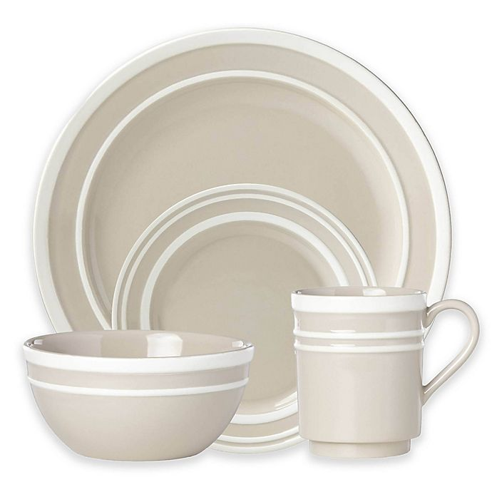 Alternate image 1 for kate spade new york All in Good Taste Sculpted Stripe™ Beige Dinnerware Collection