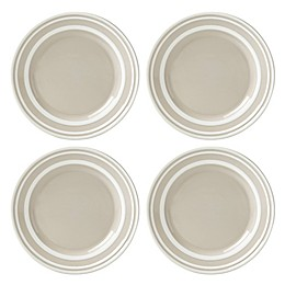 kate spade new york All in Good Taste Sculpted Stripe™ Beige Accent Plates (Set of 4)